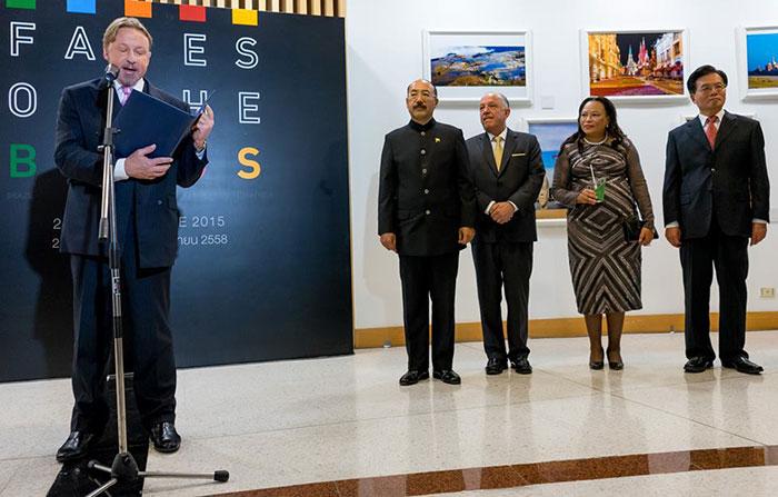Выступление Кирилла Барского на открытии выставки Лица БРИКС в Бангкоке