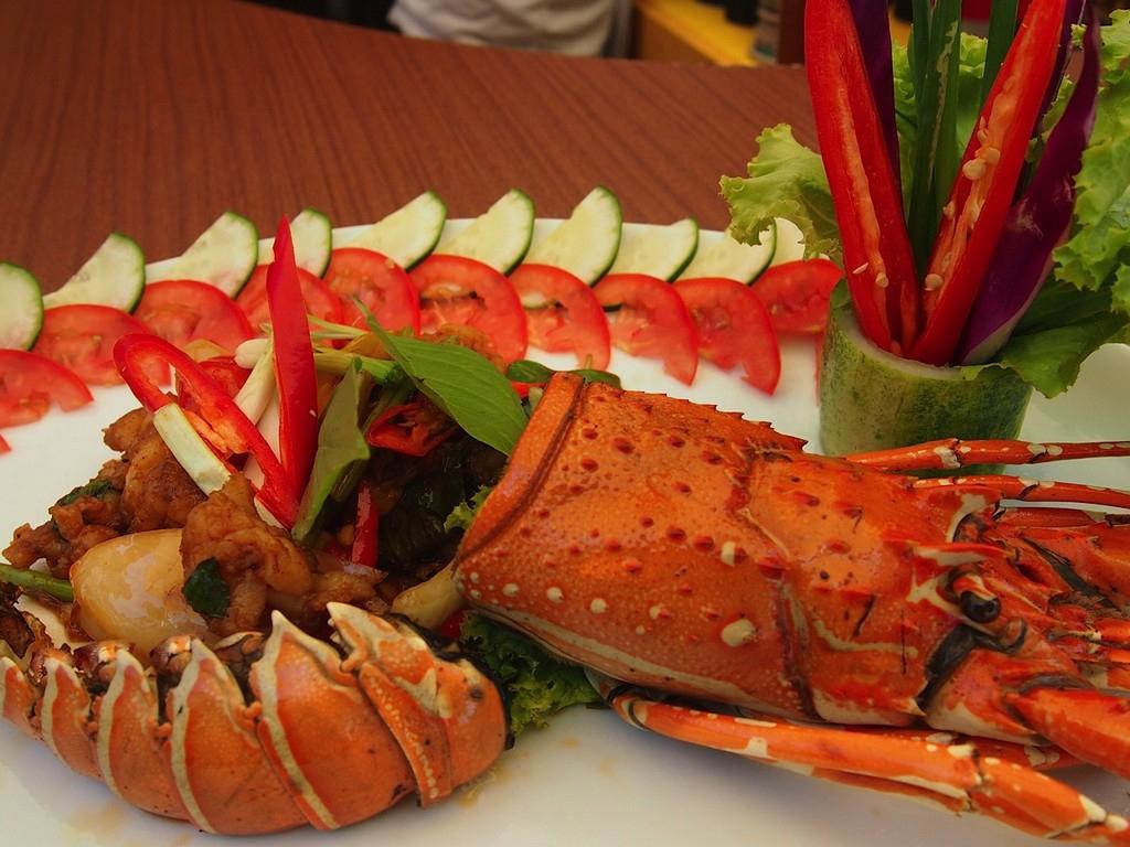 Лобстер в ресторане Lillo Kamala Resort на Пхукете