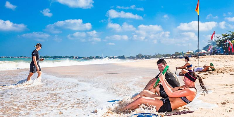 Тренировка на пляже Ко Тао