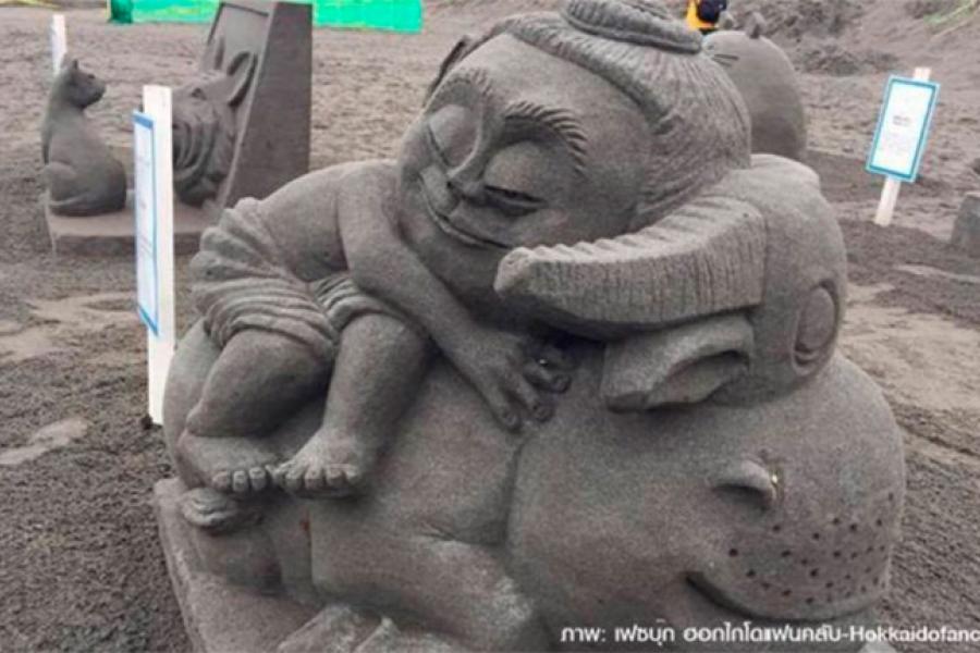 Фото дня: Песчаная скульптура «Друг»