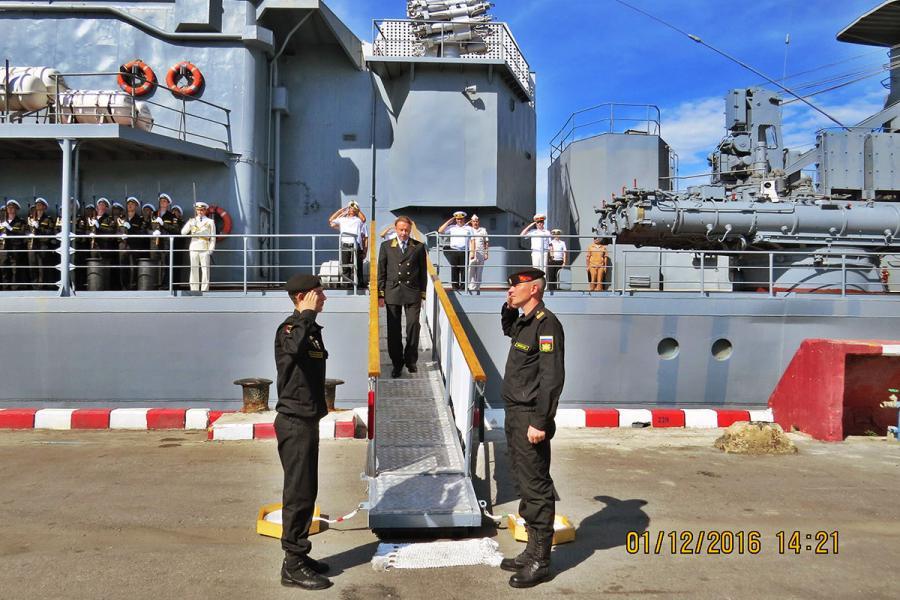 Военные корабли Тихоокеанского флота РФ в Саттахипе
